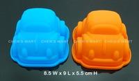 Free Shipping 2 pc Baby Sedan Transport Car Silicone Mold Fondant Mould Sugarcraft Icing Chocolate Baking Tool