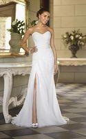Sexy White Chiffon Wedding Dress Custom size