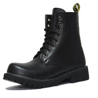 Genuine leather men boots,motorcycle boots,Black size38-43