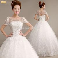 Winter lace wedding dress 2015 new bitter fleabane to bind the bride wedding dresses ball gown vestido de noiva casamento 523