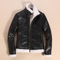 Hot Winter Supreme Imported Clothing Mens Leather Jacket Men's Fur Coat Fur Lined Leather Jacket Coats
