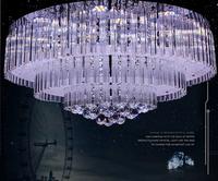 Modern fashion brief circle big led ceiling fashion crystal pendant light