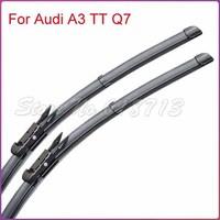 Free shipping car wiper blade for Audi A3 TT Q7 1 pair Soft Rubber WindShield Wiper Blade 2pcs/PAIR deflector window