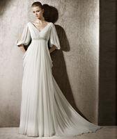 New Style 2014 Fashion Chiffon Wedding Dress Custom