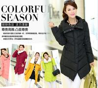 2014 new arrival solid fashion down coat women warm winter coat outerwear 5 colors L-XXL