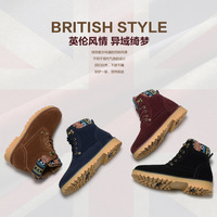 hot sales fashion man autumn winter men shoes warm snow sneakers boots motorcycle suede leather boots ankle boots heels shoes