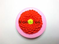 Mom&Pea 0173 Free Shipping Sunflower Shaped Silicone Mold Cake Decoration Fondant Cake 3D Mold Food Grade Silicone Mould