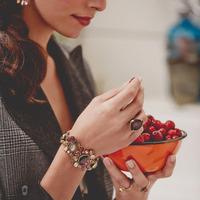 New 2014 Fashion Vintage Jewelry Retro personality luxury insert or Rhine barren bracelet for women Free Shipping JZ102701