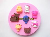 Mom&Pea 0171 Free Shipping Cartoon Figures Shaped Silicone Mold Cake Decoration Fondant Cake 3D Mold Food Grade Silicone Mould