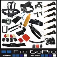 Go pro Accessories Kit Gopro Accessories mounts Set for Sj4000 Accessories Black Edition Gopro Hero4 HERO 4 3+ 2 hero 3 Monopod