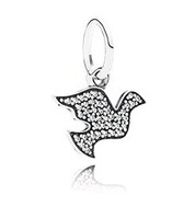 New pigeon silver pendant inlaid stone sterling silver beads Christmas gifts