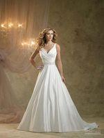 Sexy new style v-neck chiffon wedding dress