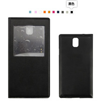 Note 4 Case Stock Original S View Design Luxury Leather Case For Samsung Galaxy Note4 N9100 Flip Leather Battery Housing Case