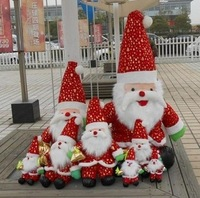 Free shipping santa claus plush toy Father Christmas doll 20cm mini size 10pcs/lot