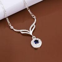 Women wedding jewelry neckalce,Noble romantic crystal pendant necklace,wholesale  fashion jewelry N498