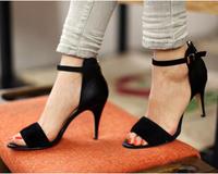 Plus size shoes high-heeled shoes banding bandage thin heels women's shoes