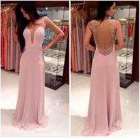 LBL1088  Deep V  Sexy Halter Evening Party Dress  New 2014 Women   Vestidos De Festa