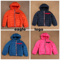 brand  boys girls down Hooded jacket  Thick Warm clothing children warm  coat 1-6years