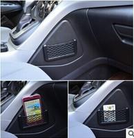 Drop shipping Hot sale Car Net Organizer Pockets Net car storage 15X8cm Automotive Bag With Adhesive Visor