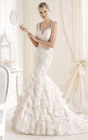 Custom Fashion Organza Mermaid Wedding Dress