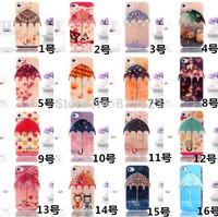 For iPhone 6 4.7,6 Plus 5.5 Case Cute Little Umbrella Shiny Blue Ray HD TPU Cover