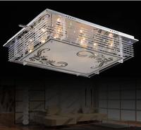 Crystal lamp rectangle ceiling light living room lights bedroom crystal lamp modern crystal pendant light led ceiling light