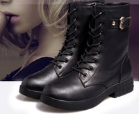 hot sale high quality genuine leather 35-40 thick leather boots Martin    women boots