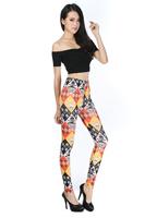 2014 Top Selling Sexy Skull orange Printing Leggings Fashion spandex Pants Polainas Woman Jogar a calcinha Leggin Free Shipping