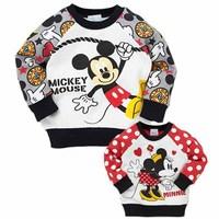 2014 New Autumn Mickey & Minnie Baby T - shirts Fashion Boys Girls T shirt Long Sleeve 5 pcs / lot 1352