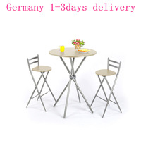 DS25083H High quality 3pcs One Bar Set Dining Room Table Chair Desk For Eating Reading Home Entertainment Shipping from Germany