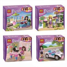4piece/lot Bela Friends Girls  Building Blocks Model Kit,Friends Minifigure Bricks Block Enlighten Train compatible with lego(China (Mainland))