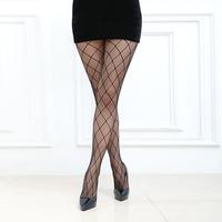 Waho High Quality Fashion Pantyhose Women Tights Sexy Stockings Plaid Jacquard Fishnet Stockings Sexy Lingerie Free Shipping