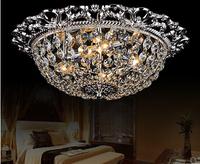 Fashion crystal ceiling light crystal ceiling light romantic circle ceiling light