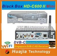 2PCS/LOT 2014 Newest Blackbox HD C600 II mini for Singapore starhub hd cable tv receiver