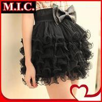 New 2014 vintage tutu skirt women Fairy Style girls' 5 layers Tulle Bouffant Short Mini Mesh SKirts black High quality