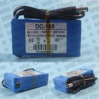 1800mAh DC 12V Super Rechargeable Lithium-ion Battery Pack US/UK/EU Plug