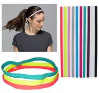 (10 pieces/lot) Sports Elastic Headbands Assorted Colors