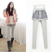 2014 Winter Korean Style Warm Women Fleece Leggings Cotton Skirt Leggings Pockets Ladies Ankle Length Pants YSK045