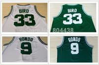 Adult Stitched Boston #33 Larry Bird ,Rajon Rondo 9# Singlets Basketball Jerseys Embroidery LogosFree shipping