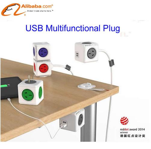 creative PowerCube socket outlet terminal board USB multifunctional plug(China (Mainland))