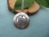 Wholesale ~SALE -Antique silver live your dream Locket Necklace Victorian Jewelry Gift Vintage Style