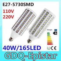 Free shipping 2x 40W 165LED 5730 SMD E27 Corn Bulb Light Maize Lamp LED Light Bulb Lamp LED Lighting Warm/Cool White