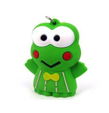 Free shipping Wholesale Hot-Selling Green cartoon frog 8GB USB 2.0 Flash Memory Stick Pen Drive U Disk RU553(China (Mainland))