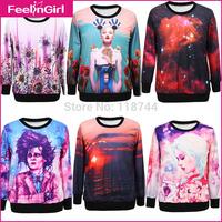 2014 Men/Women Hot Clothing Long Sleeve Thin Hoodies Couple Hoodies Fashion Printed Casual Pullovers Sweatshirt Free Shipping 3