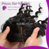 Free Style/Part Silk Base Closure Brazilian/Peruvian/Malaysian/Indian Hair Deep Wave Curly Lace Closure 4x4 Silk Top Closure