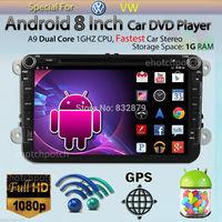 100% Pure Android 4.2 VW Car DVD GPS Navi 1.6G CPU RAM GOLF 6 new polo New Bora JETTA MK4 B6 PASSAT Tiguan SKODA OCTAVIA Fabia