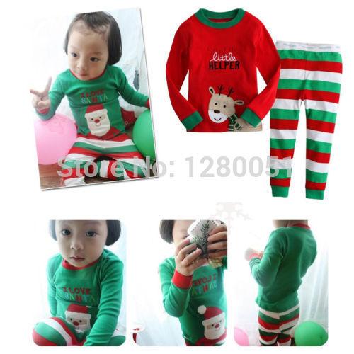 Хиты 2014 продаж сзт рождество оленей детские девушки парни пижамы пижамы костюм наряды комплект