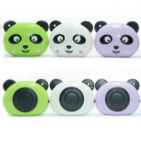 200pcs cute panda design mp3 player support 2G 4G 8G micro SD card TF card mini music player rechargable battery free ship DHL