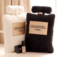 Pernycess Channel creative plush pillow bronzing fragrant Car perfume bottles pillow home plush cushions