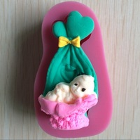 The Cradle Of The Child   shape fondant 3D molds, candle molds, sugar craft tools, chocolate moulds, bake ware-P146